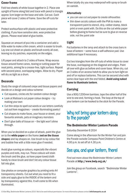 Make your own lantern page 2